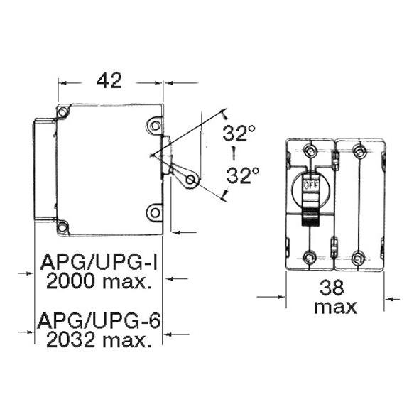 Airpax Interruttore magneto-idraulico bipolare AC 20A
