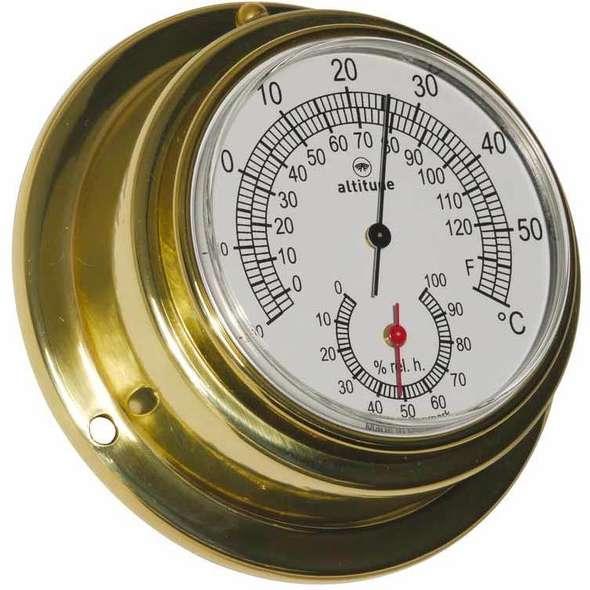 Altitude Termo-Igrometro D. 95 Ottone lucido