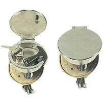 Alzapagliolo - chiusura tondo cromo mm.68 con serratura