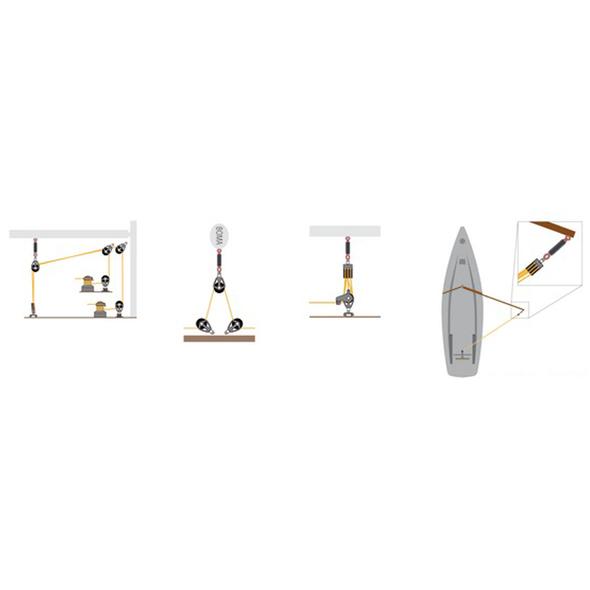 Ammortizzatore randa per barche 8,80-10,40 mt.