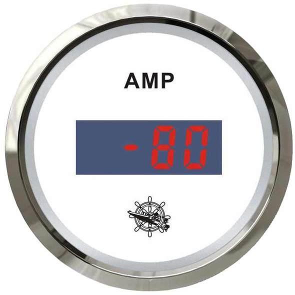 Amperometro Digitale Bianco + Cromo 80 A.