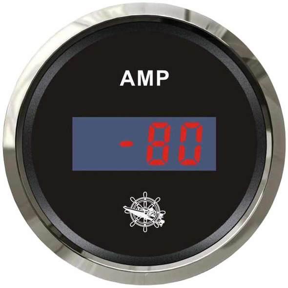 Amperometro Digitale Nero + Cromo 80 A.