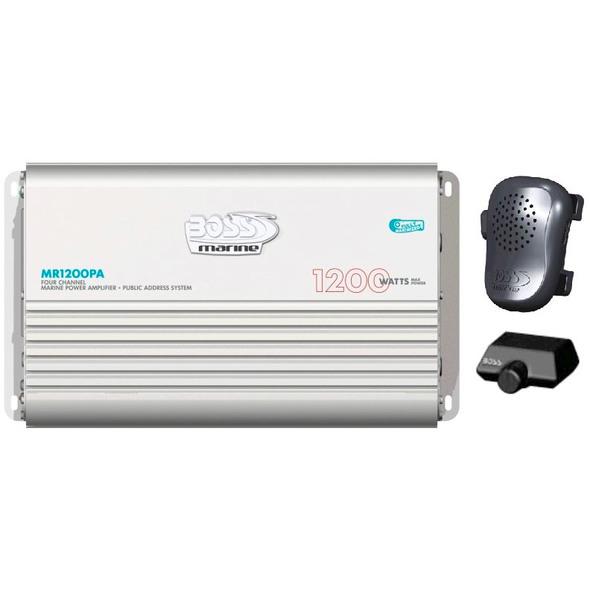 Amplificatore Boss Marine 1200PA Funzione Vocale