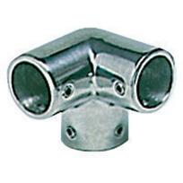Angolo a tre vie inox per tubo 25 mm.