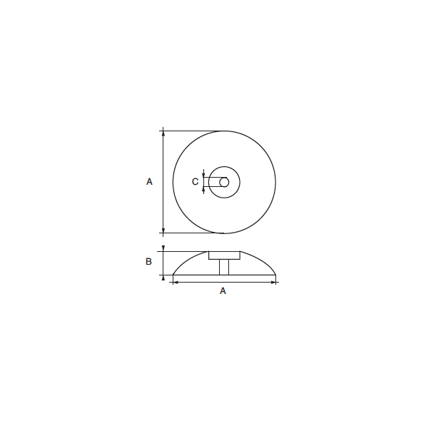 Anodo a rosa per timoni e flaps D. 125 mm