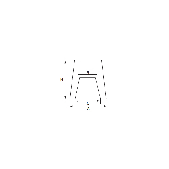 Anodo asse elica Radice RA-1 per asse D. 25