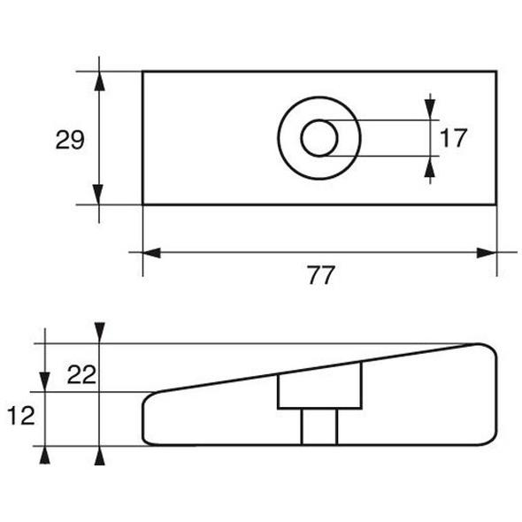 Anodo Mercury - Mercruiser FM-16 HP 75÷250-75 4 TEMPI