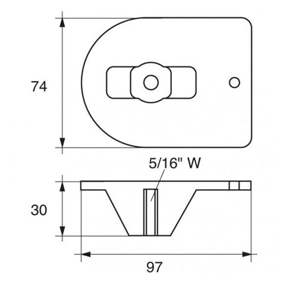 Anodo Mercury - Mercruiser FM-3 HP 20