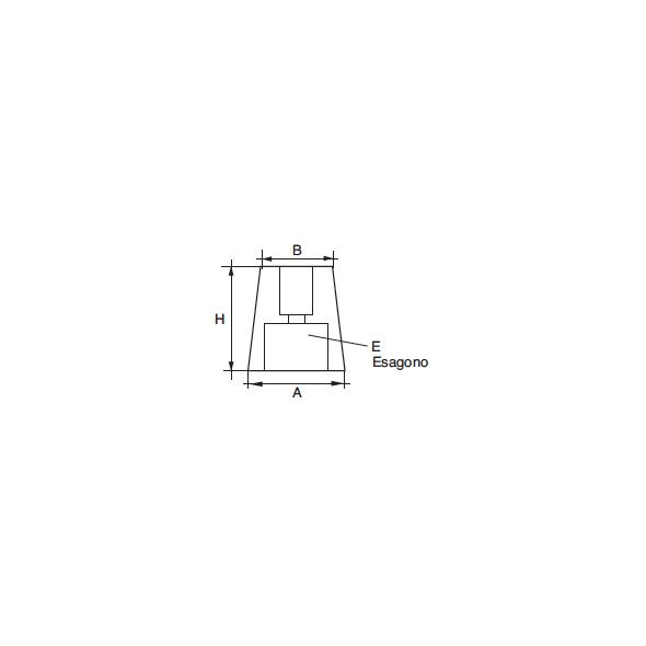 Anodo Radice con esagono RA-1E per asse D. 22-25