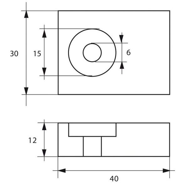 Anodo Suzuki FM-10/S HP 40÷50