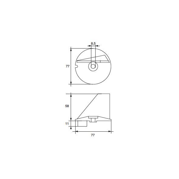 Anodo Tohatsu F-TO-3 HP 60÷140 XF 70