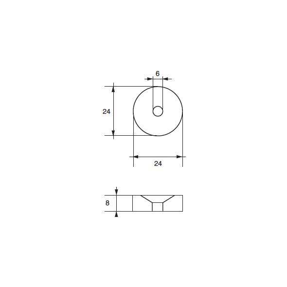 Anodo Tohatsu F-TO-5 HP 2,5÷8