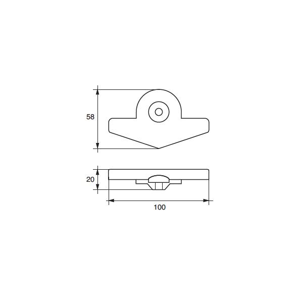 Anodo Yamaha - Mariner F-YA-22 HP 9,9-15