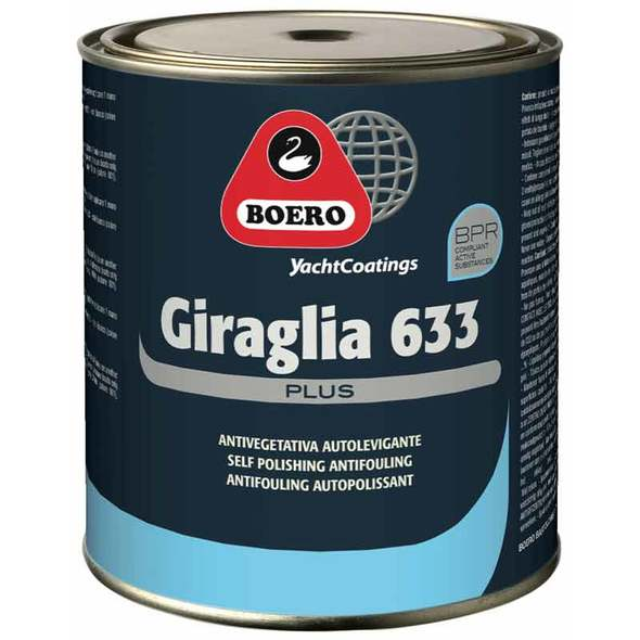 Antivegetativa Boero Giraglia 633 Plus - 0,75 lt. Nero