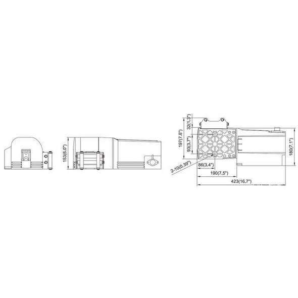 Arganello elettrico per carrelli 1134 Kg.