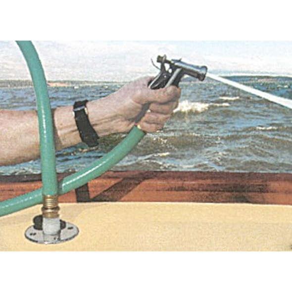 Attacco a baionetta a filo per lavaggio ponte con raccordo diritto