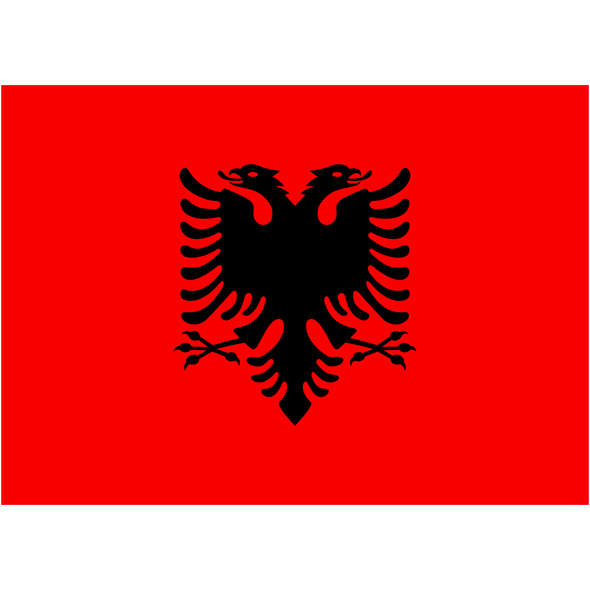 Bandiera Albania Pesante cm 20 x 30