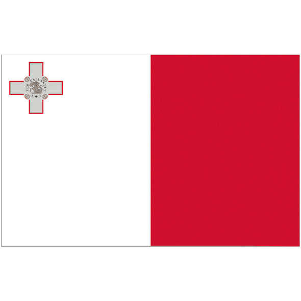 Bandiera Malta Pesante cm 20 x 30