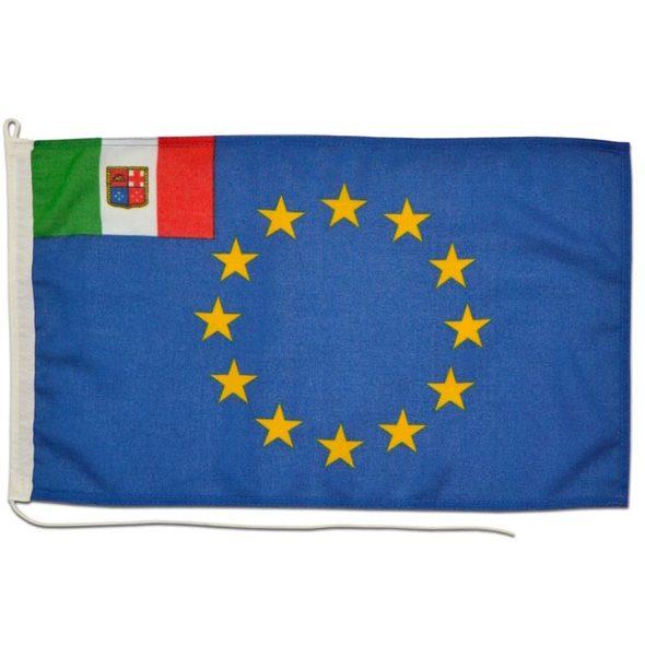 Bandiera UE + Italia pesante cm 20x30