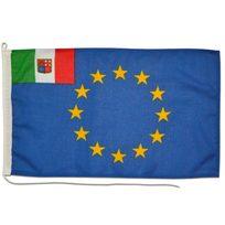 Bandiera UE + Italia pesante cm 30x45
