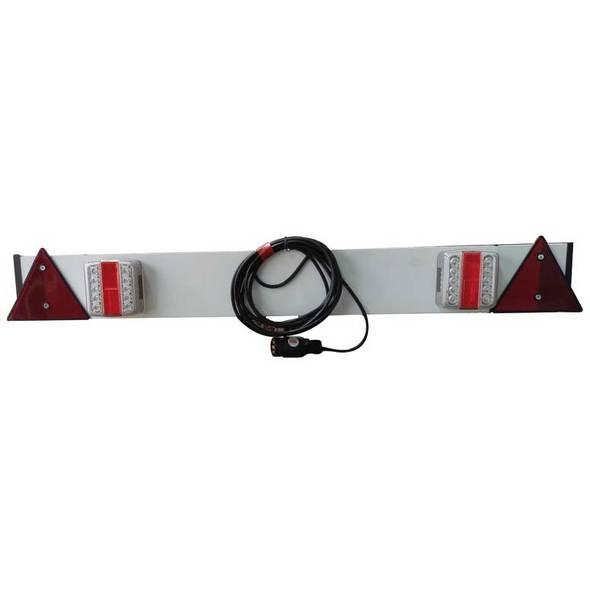 Barra luci posteriore in plastica con luci a LED