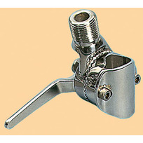 Base antenna inox snodata per tubi 22-25 mm.