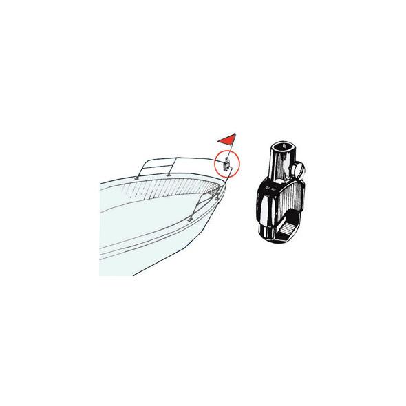 Base aste portabandiera Fissaggio Tubolare Stelo 14 mm.