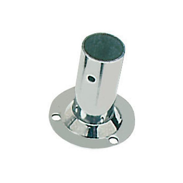 Basetta inox tonda 90° x tubo da 22 mm.