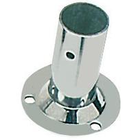 Basetta inox tonda 90° x tubo da 25 mm.