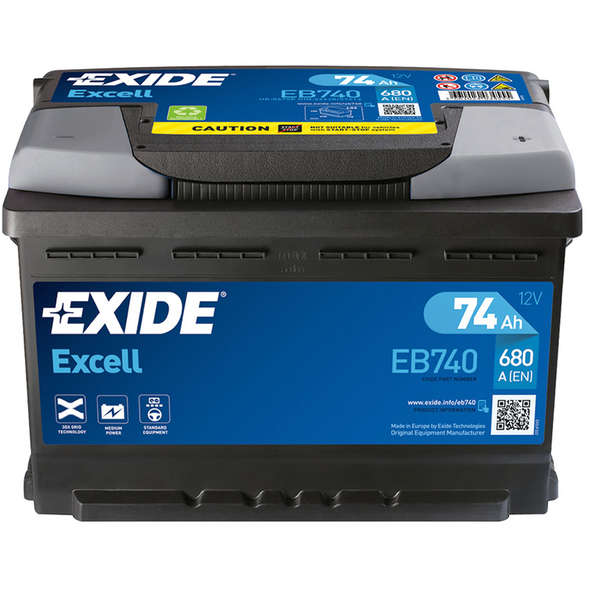 Batteria Exide Excell EB500 50 Ah