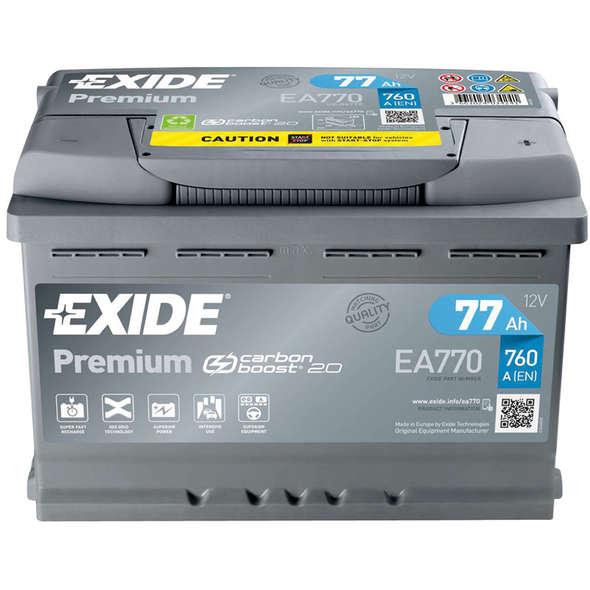 Batteria Exide Premium EA770 77 Ah