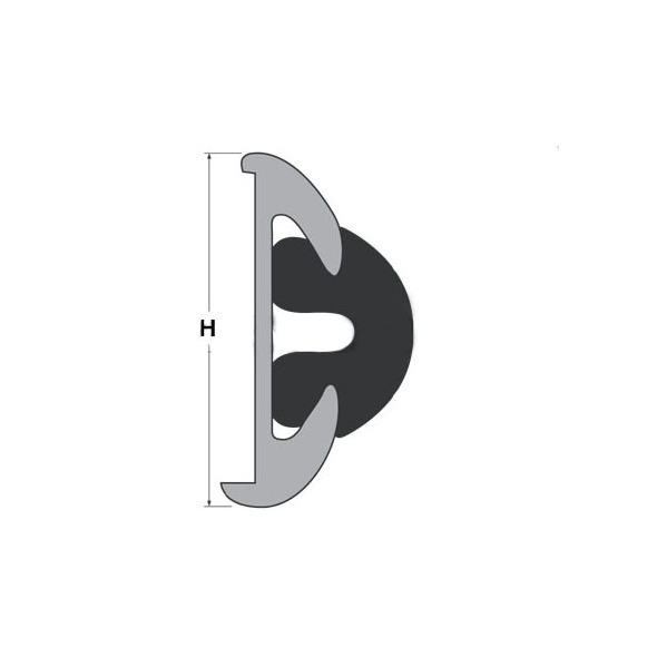 Bottazzo PVC per supporto da mm 56 - Bianco mt. 12