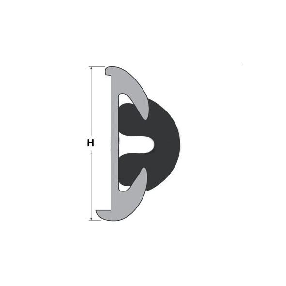 Bottazzo PVC per supporto da mm 75 - Bianco mt. 12