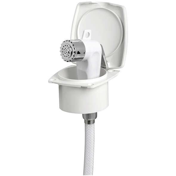 """Box doccia """"New Edge"""" con doccia Boris e tubo mt 4,00 - bianco"""
