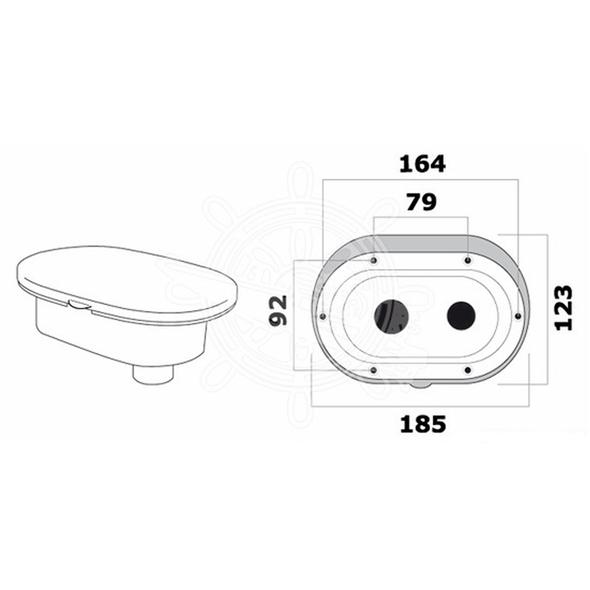 """Box doccia in luran bianco con doccia """"Mizar"""" e tubo mt 2,50"""