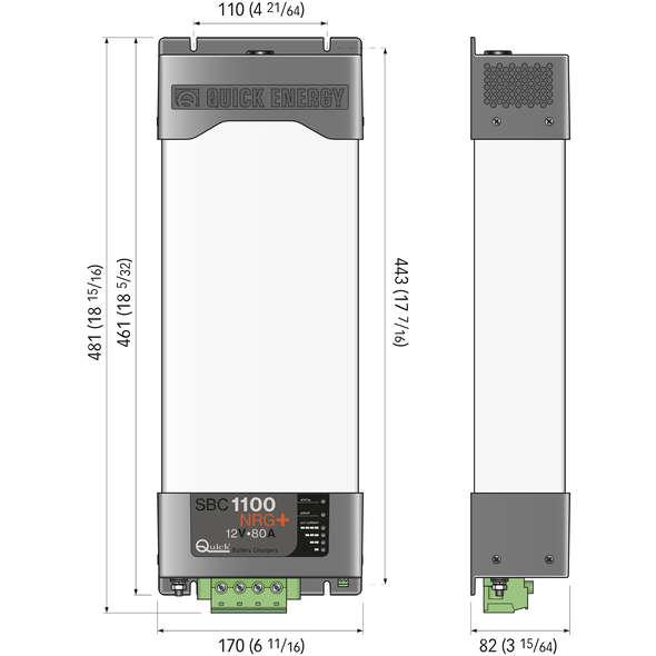 Caricabatteria Quick SBC 1100 NRG + FR