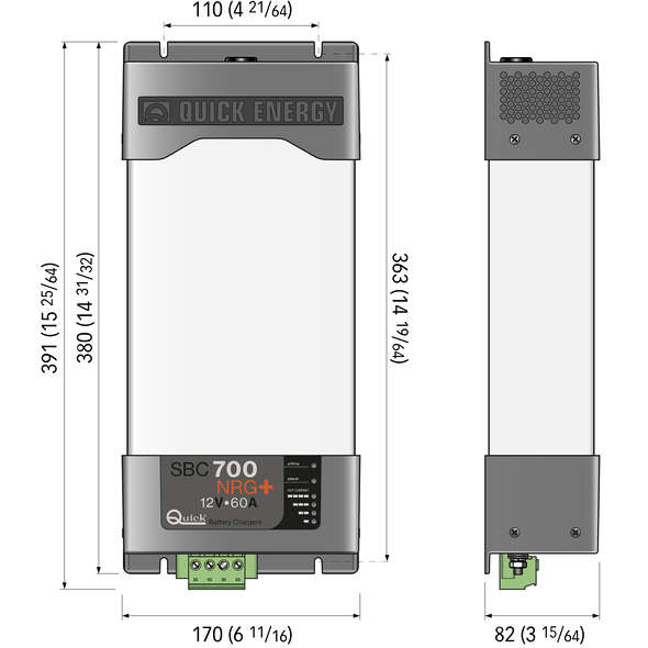 Caricabatteria Quick SBC 700 NRG + FR