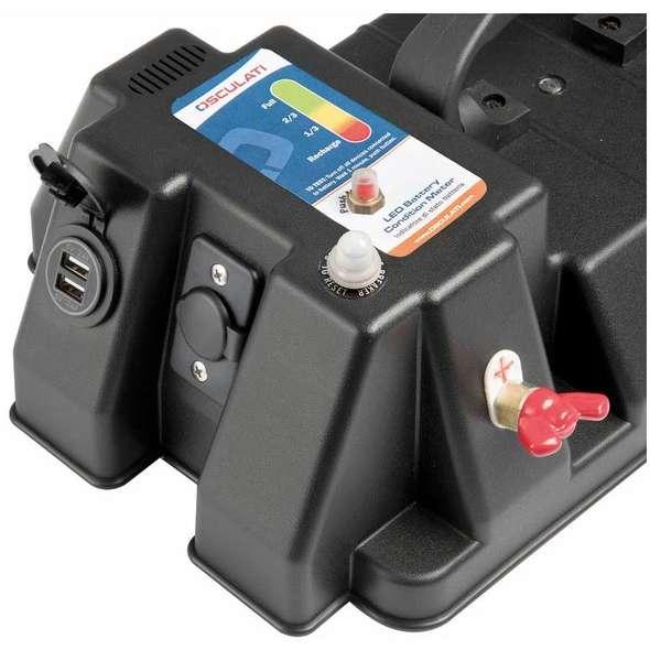 Cassetta Batteria Power Center Deluxe con Dual USB