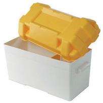 Cassetta portabatteria moplen bianco/giallo