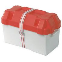 Cassetta portabatteria moplen bianco/rosso
