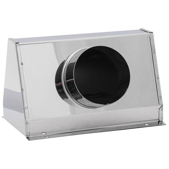 Cassonetto d'aerazione inox per 1 tubo mm 75