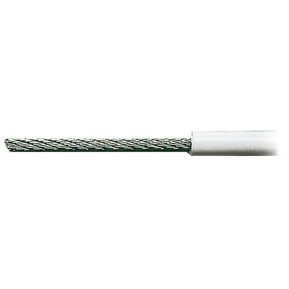 Cavetto in acciaio inox AISI 316 rivestito in PVC bianco