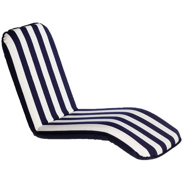 Comfort Seat Cuscino barca autoreggente Large - Righe Bianco/Blu