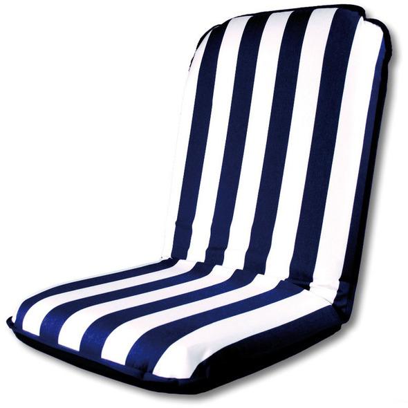 Comfort Seat Cuscino barca autoreggente Righe Bianco/Blu