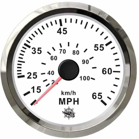 Contamiglia Pitot Bianco + Cromo - 35 mph