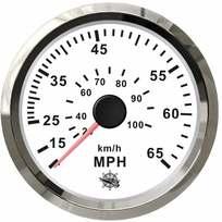 Contamiglia Pitot Bianco + Cromo - 55 mph
