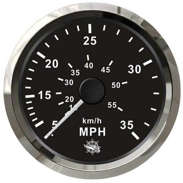 Contamiglia Pitot Nero + Cromo - 55 mph