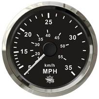 Contamiglia Pitot Nero + Cromo - 65 mph