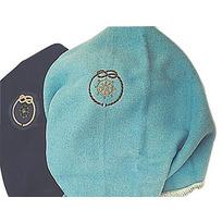 Coperta lana leggerissima con ricamo. Blu