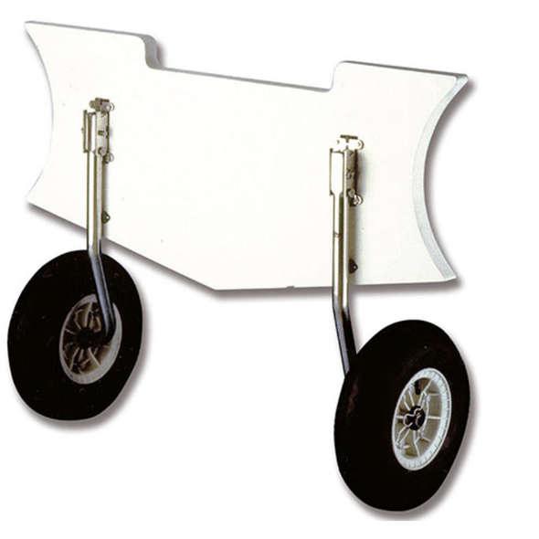 Coppia ruote alaggio a ribalta 100 kg